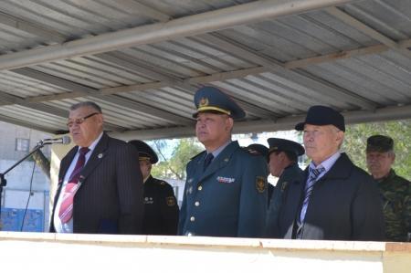 В Актау прошла военно-патриотическая акция с участием школьников