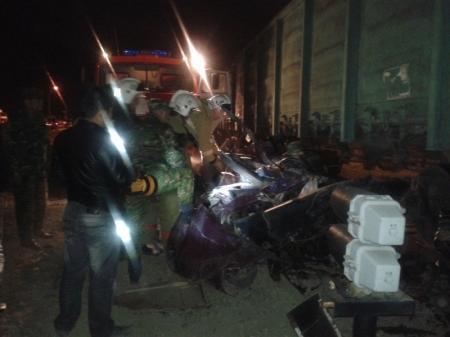 В Мангистау на железнодорожном переезде при столкновении с поездом погиб водитель автомобиля