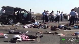 10 человек погибли в результате автокатастрофы под Кызылордой
