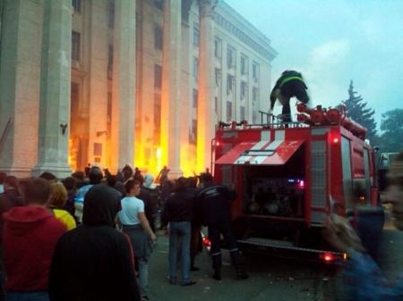 В Одессе подожгли лагерь пророссийских активистов, погибли более 30-ти человек