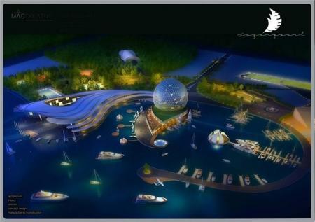 Не имеющая аналогов в мире «Жемчужина Каспия» создается в Бакинской бухте