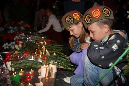 Свечи памяти зажгли в Актау