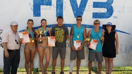 Актауские пляжные волейболисты заняли первые места на республиканской спартакиаде