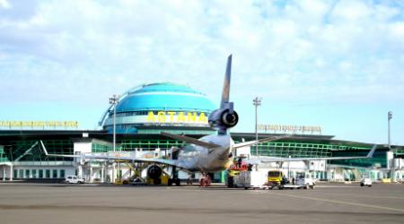 Рейсы из аэропорта Астаны перенесут из-за временного закрытия воздушного пространства