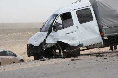 Два человека погибли в аварии на трассе Актау-Акшукур
