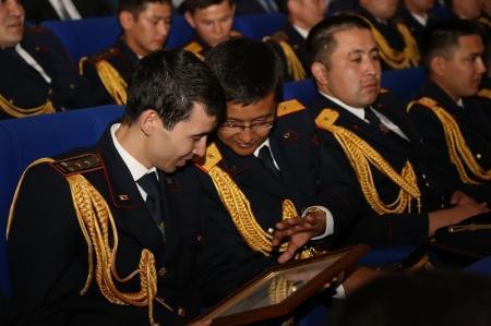 В Актау сотрудники финансовой полиции отметили 20-летие со дня образования ведомства