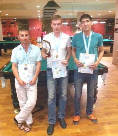 В Актау прошел турнир по бильярдному спорту «Московская пирамида»