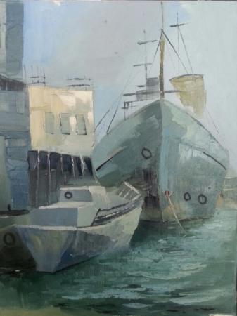 Актауские молодые художники съездили на пленэр в порт Баутино