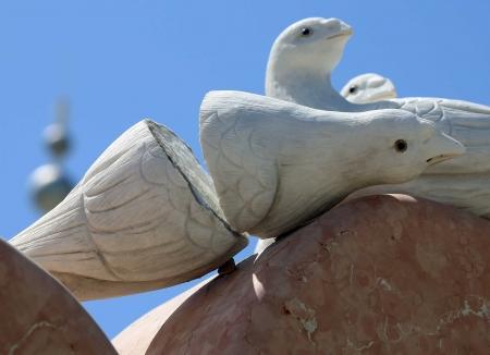 У Дворца бракосочетания сломались голуби