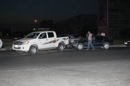 Авария между 11 и 12 микрорайонами Актау