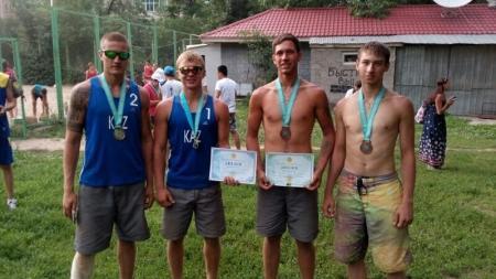 Актауские спортсмены заняли первые места на чемпионате РК по пляжному волейболу