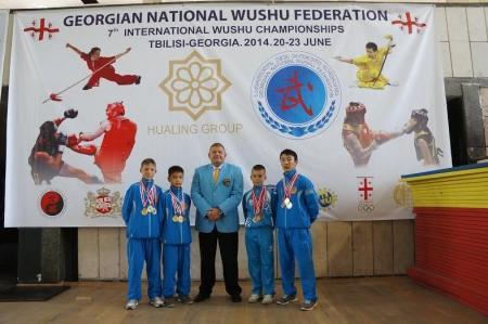 Актауские ушуисты завоевали 12 медалей на международном турнире в Грузии