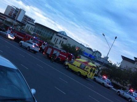 В торговом центре «Ардагер» произошло короткое замыкание проводки