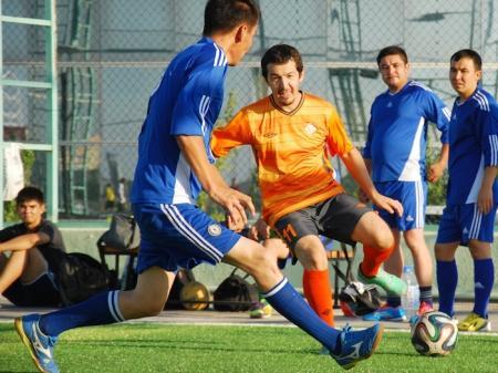 Во второй день открытого Чемпионата города Актау по футболу «Мобил-Сервис» забил 11 голов