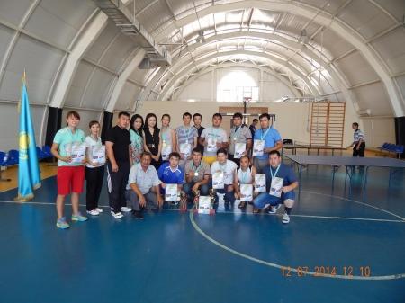 В Мунайлинском районе прошли соревнования по настольному теннису среди сотрудников акиматов