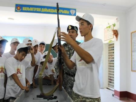 В войсковой части Актауского гарнизона открылся  военно-патриотический лагерь