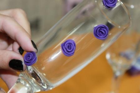 Свадебные бокалы своими руками