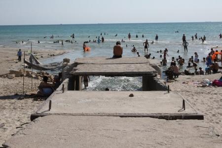 Жители Актау пожаловались на кишки и шкуры баранов в море