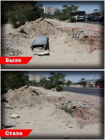 Тротуары и дороги Актау: Две недели спустя