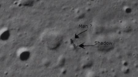 На Луне увидели силуэт пришельца