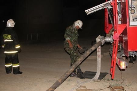 Мангистауские пожарные провели учения на нефтебазе «Шугыла»