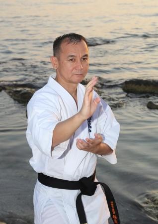 В Актау проходят учебно-тренировочные сборы инструкторов спортивной организации кекушинкай каратэ