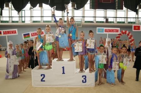 Актауские юные гимнастки вернулись с международного турнира в Грузии