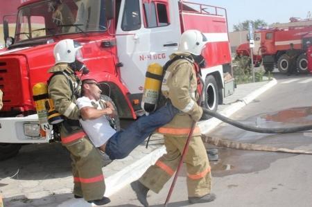 Пожарно-тактические учения прошли в поселке Баутино