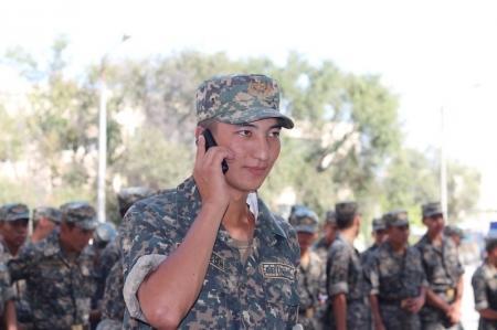 В актауской воинской части 6656 прошла акция «Звонок домой»