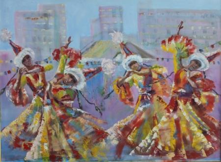 В арт-галерее «Өнер» открылась выставка «Сәулетті Ақтауым»