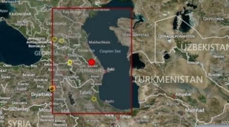 Землетрясение магнитудой 5,3 произошло в 380 километрах от Актау