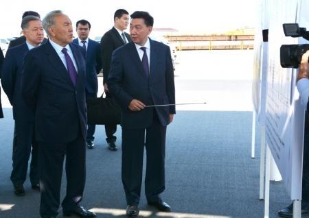 Президент Нурсултан Назарбаев посетил предприятие Caspian Offshore and Marine Construction