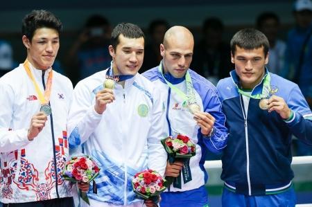 Актауский боксер Адильбек Ниязымбетов завоевал золотую медаль на Азиаде в Инчхоне