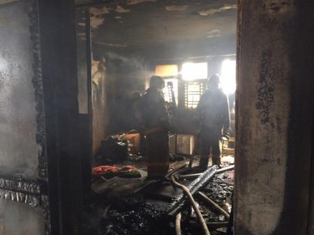 В Актау во время пожара были спасены 10 человек