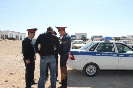 Административная полиция: За незаконную торговлю у авторынка Актау мы будем штрафовать