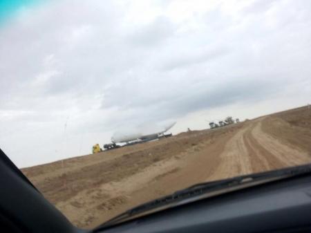 В Актау ВЕЗУТ самолет по частям