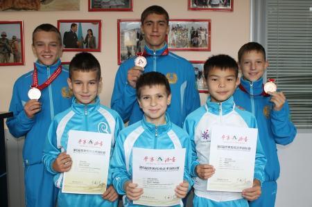 Актауские ушуисты завоевали бронзовые медали на чемпионате мира в Китае