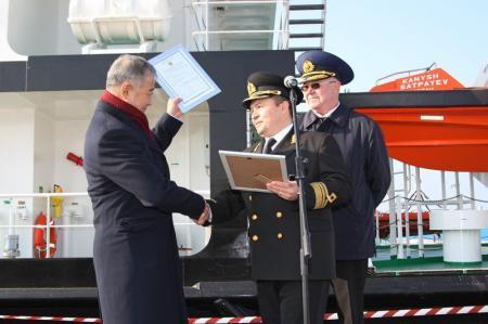 Из морского порта Актау отправился на трудовую вахту первый казахстанский научно-исследовательский корабль