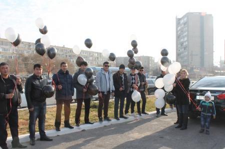 В Актау почтили память жертв дорожных аварий