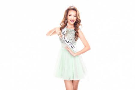 Лаура Мурсалимова представляет Актау на конкурсе красоты «Мисс Казахстан»