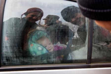 Машину с младенцем увёз эвакуатор