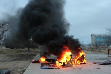 Пожар в акботе