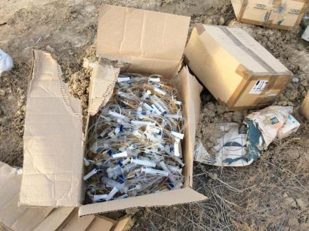 Расследование по факту свалки медицинского мусора в 24 микрорайоне Актау продолжается