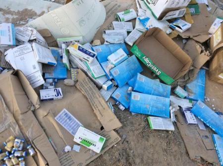 В Актау обнаружена свалка медицинских отходов