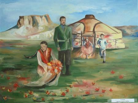 В арт-галерее «Онер» открылась выставка картин Сабины Рамазановой