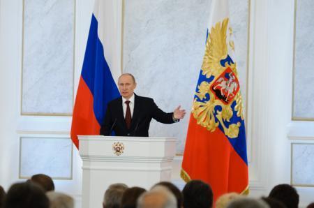 Владимир Путин выступает с ежегодным посланием Федеральному собранию – прямая трансляция