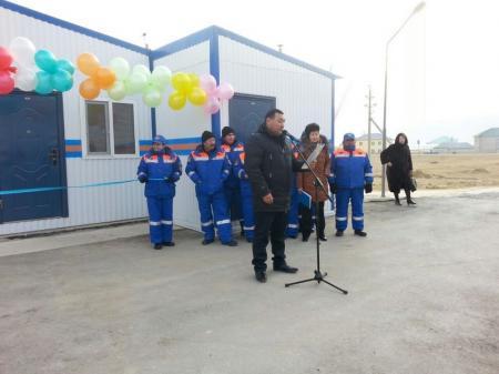 На трассе Актау - Доссор состоялось открытие медико-спасательного пункта