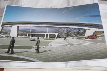 В Актау началось строительство Дворца спорта с легкоатлетическим манежем