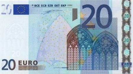 Европа введет новую купюру в 20 евро