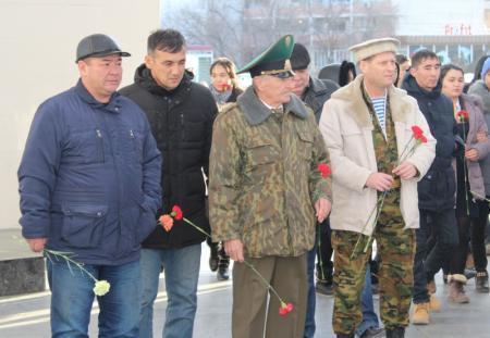 В Актау воины-интернационалисты почтили память своих товарищей